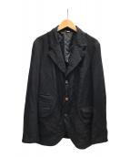 ()の古着「製品染加工エステル3Bジャケット」 ブラック