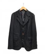 COMME des GARCONS HOMME DEUX(コムデギャルソン オム ドゥ)の古着「製品染加工エステル3Bジャケット」|ブラック