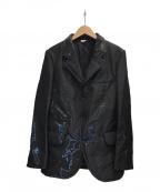 COMME des GARCONS HOMME DEUX(コムデギャルソン オム ドゥ)の古着「光沢加工ジャケット」|ブラック