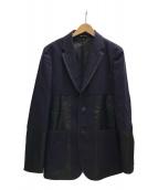 ()の古着「ナイロン切替ウールジャケット」 ネイビー×ブラック