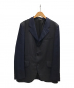 COMME des GARCONS HOMME DEUX(コムデギャルソン オム ドゥ)の古着「チェック切替3Bジャケット」|ネイビー×グレー