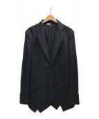 ()の古着「螺旋切替2Bジャケット」 ブラック