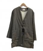Demi-Luxe Beams(デミルクス ビームス)の古着「ペーパーコットン1ボタンジャケット」 ベージュ
