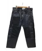 ()の古着「パッチワークデザイン加工パンツ」 ブラック