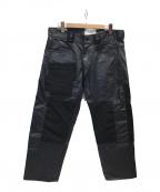 HAUD STUDIO(ハウドスタジオ)の古着「パッチワークデザイン加工パンツ」 ブラック