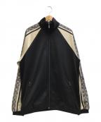 GUCCI(グッチ)の古着「オーバーサイズテクニカルジャージージャケット」|ブラック×ホワイト