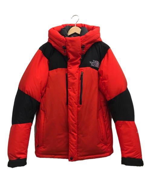THE NORTH FACE(ザ ノース フェイス)THE NORTH FACE (ザ ノース フェイス) ダウンジャケット レッド×ブラック サイズ:Lの古着・服飾アイテム