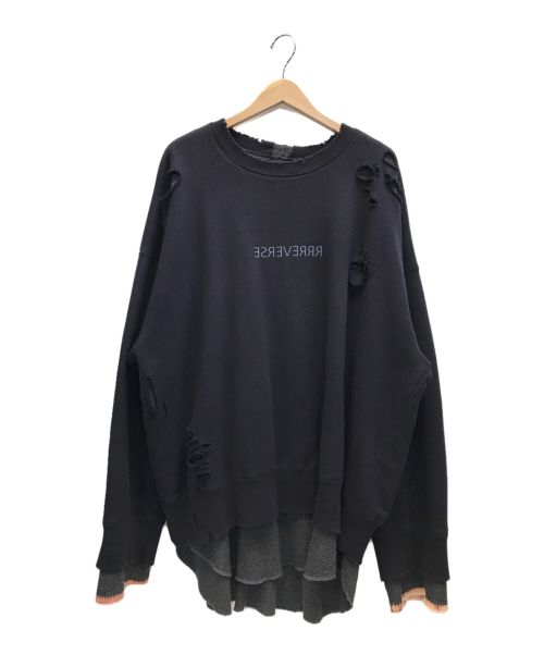 stein(シュタイン)stein (シュタイン) OVERSIZED LAYERD SWEAT LS ブラック サイズ:Mの古着・服飾アイテム