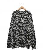 BALENCIAGA()の古着「プリントロゴセーター」|ブラック×ホワイト