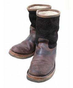 PISTOLERO(ピストレロ)の古着「ボアライニングペコスブーツ」|ブラウン