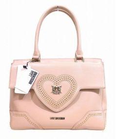 LOVE MOSCHINO(ラブモスキーノ)の古着「ハートスタッズハンドバッグ」 ピンク