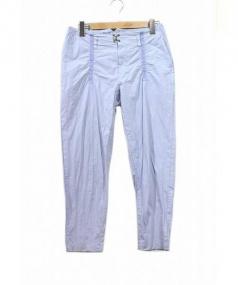 kolor(カラー)の古着「ハードナイロンクロスパッカリングパンツ」 スカイブルー