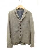45rpm(45アールピーエム)の古着「マオカラーハウンドトゥースジャケット」 モスグリーン