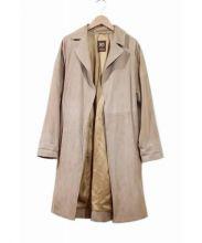 50 Cinquanta(チンクアンタ)の古着「山羊革スエードベルテッドコート」|ブラウン
