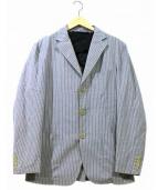 BARENA(バレナ)の古着「ストライプテーラードジャケット」|グレー