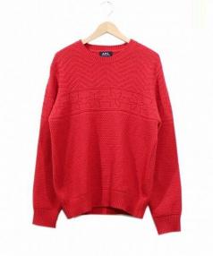 A.P.C.(アーペーセー)の古着「編み柄ノルディックニット」|レッド