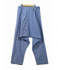 Edwina Horl(エドウィナホール)の古着「織りドット柄サルエルパンツ」|ブルー