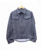 kiryuyrik(キリュウキリュウ)の古着「パンチング加工ジップジャケット」|グレー