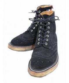 THOM BROWNE(トムブラウン)の古着「クレープソールウィングチップブーツ」 ブラック