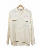 GOLDEN GATE(ゴールデンゲート)の古着「50'sシュライナー刺繍レーヨンシャツ」|ホワイト