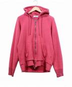 UNUSED(アンユーズド)の古着「カットオフジップパーカー」|ピンク