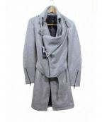 TORNADO MART(トルネードマート)の古着「ウールツイードドレープコート」|グレー