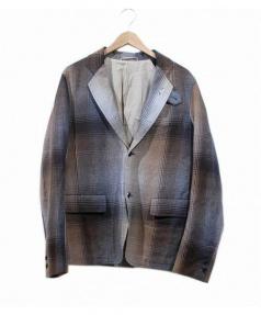 CABANE de ZUCCa(カバンドズッカ)の古着「チェック柄ウールジャケット」 ブラウン