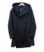 ato(アトウ)の古着「フーデットメルトンコート」|ブラック