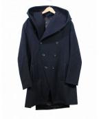 ato(アトウ)の古着「フーデットメルトンコート」 ブラック