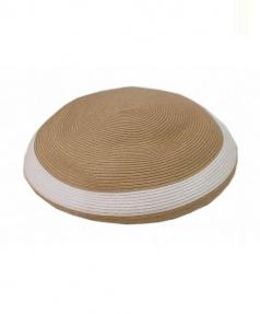PHINGERIN(フィンガリン)の古着「ベレー帽」|ベージュ×ホワイト×ブルー