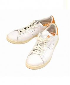 adidas×RAF SIMONS(アディダス×ラフシモンズ)の古着「STANSMITH」|ホワイト×オレンジ