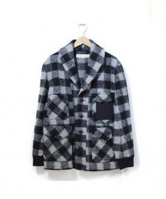 HAVERSACK(ハバーサック)の古着「ニットジャージージャケット」|グレー