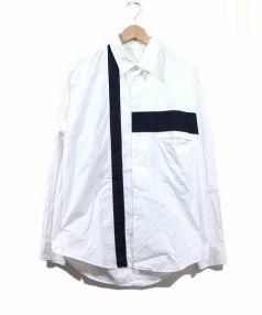 Yohji Yamamoto(ヨウジヤマモト)の古着「ラインシャツ」|ホワイト