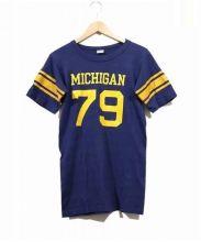 Champion(チャンピオン)の古着「70'sヴィンテージフットボールTシャツ」 ネイビー