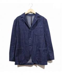 EVISU(エビス)の古着「デニムテーラードジャケット」|インディゴ