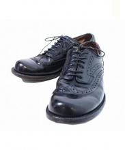 foot the coacher(フットザコーチャー)の古着「ウイングチップ レザーシューズ」|ブラック