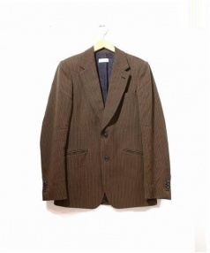 DRIES VAN NOTEN(ドリスヴァンノッテン)の古着「織り柄テーラードジャケット」 ブラウン