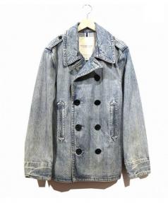 Denim & Supply Ralph Lauren(デニムアンドサプライ ラルフローレン)の古着「ユーズド加工デニムPコート」|インディゴ