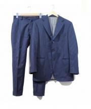 BOGLIOLI(ボリオリ)の古着「3Bセットアップスーツ」 ネイビー