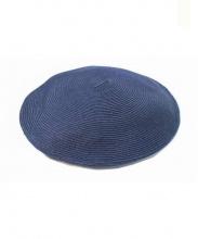 PHINGERIN(フィンガリン)の古着「ベレー帽/SUMMER BELLET」|ネイビー