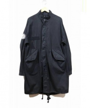 pretty green(プリティーグリーン)の古着「フードレスモッズコート」|ブラック