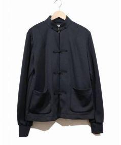 BLACK COMME des GARCONS×NIKE(ブラックコムデギャルソン×ナイキ)の古着「エステルジャージチャイナジャケット」|ブラック