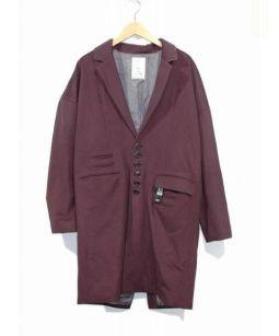 SHAREEF(シャリーフ)の古着「マルチボタンチェスターコート」|バーガンディー