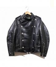 Dry Bones(ドライボーンズ)の古着「モーターサイクルレザージャケット」|ブラック