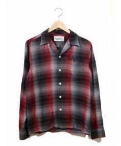 WACKO MARIA(ワコマリア)の古着「オンブレチェック開襟シャツ」|レッド