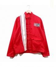 CHAMPION PLUG(チャンピオンプラグ)の古着「レーシングジャケット」 レッド