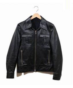 Rags McGREGOR(ラグス マックレガー)の古着「フラップポケットレザージャケット」 ブラック