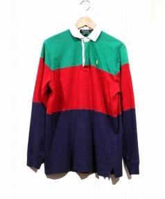 POLO RALPH LAUREN(ポロラルフローレン)の古着「ラガーシャツ/ロンスリーブポロシャツ」|マルチカラー