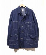 Lee(リー)の古着「91-Jヴィンテージデニムカバーオール」|インディゴ