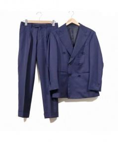 RING JACKET(リングジャケット(リングヂャケット))の古着「ダブルセットアップスーツ」|ダークネイビー